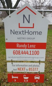Randy Lenz for sale sign | NextHome Metro Group - Madison/Verona