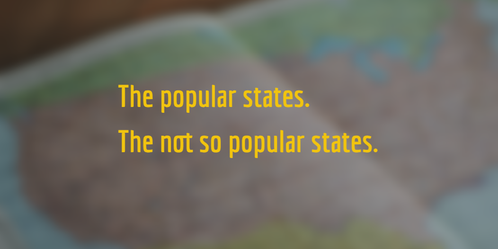 The popular & not so popular states to move to.